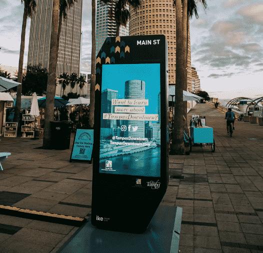 Tampa smart city kiosk ike