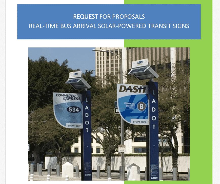 Smart City Transit Signs Solar